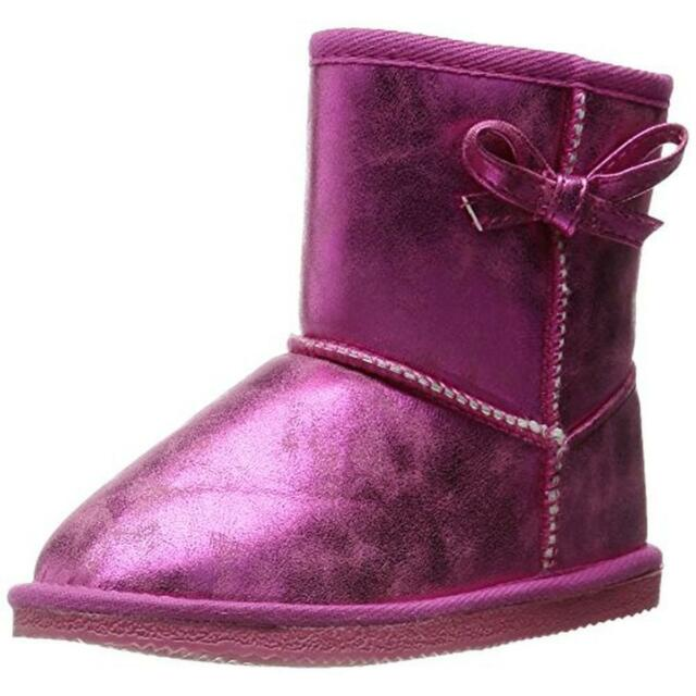 Western Chief Size 13 Elsa Pink Toddler Girls Metallic Casual Boots Shoes
