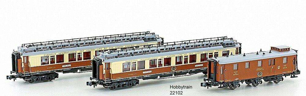 Hobbytrain 22102 - 3 unid ciwl set 1-Simplon-Express-EP. I Spurn