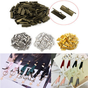 Jewelry Making Findings Kit Ribbon Necklace Bracelet Cord Crimp Ends Clamps