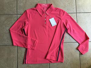 Nike Golf Women 39 S Uv Long Sleeve Polo Shirt Aster Pink