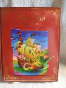 Rare-JiM-Barrie-Peter-Pan-Children-039-s-Jigsaw-Book-6-Complete-Wrapped-Puzzles-Mis