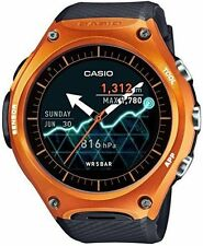 CASIO  Smartwatch Quartz Resin Sport Watch, Color:Black (Model: WSD-F10RG)