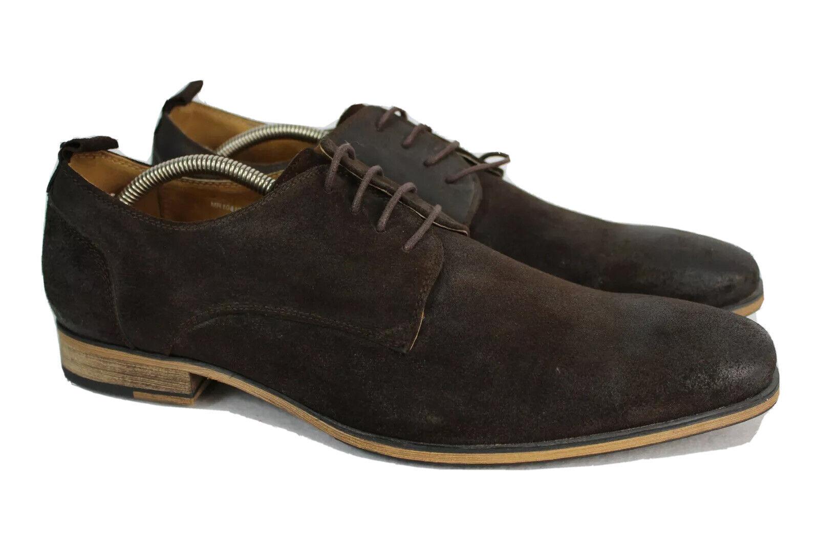 NWOB Kenneth Cole Reaction Men's Running Streak Brown Suede Dress Shoes 12M