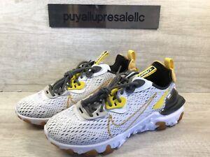 Men-s-Nike-React-Vision-White-Iron-Grey-Vast-Grey-Honeycomb-CD4373-100-Size-7