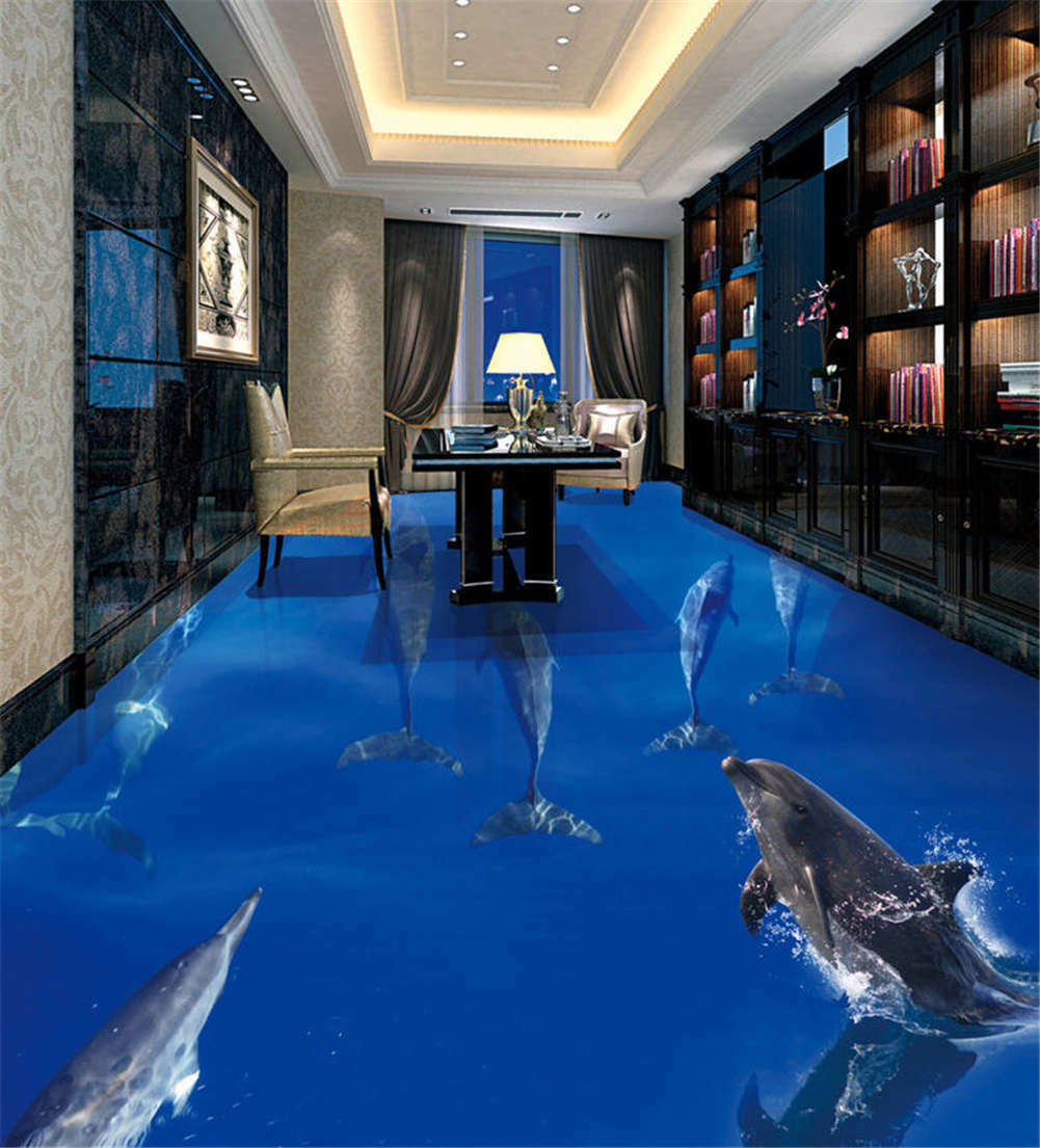 Placid Sea Surface 3D Floor Mural Photo Flooring Wallpaper Home Print Decoration