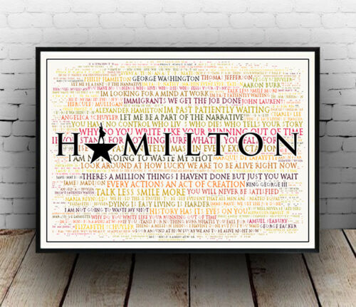 Lyrics Poster Wall Art All Sizes Quotes Hamilton Broadway Musical Poster