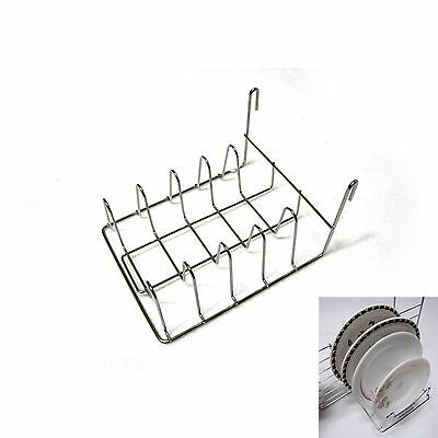Mini Stainless Steel Dish Rack For Grid Wall Space Dish Drying Sink Organizer