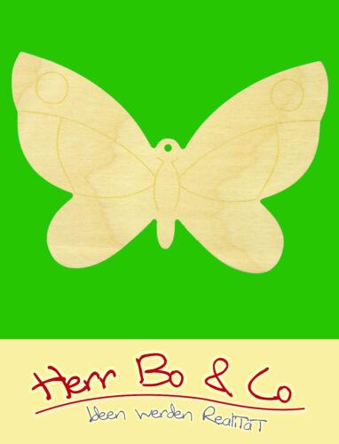 2x Schmetterling Holz Anhänger Basteln Malen Dekoration