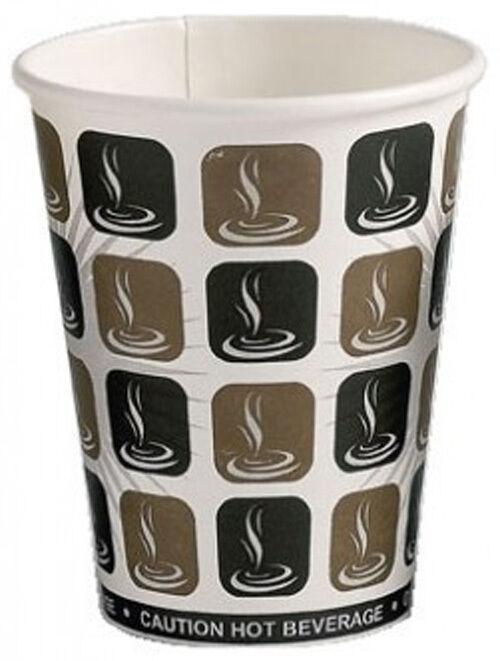 12oz Mocha Paper Single Tea Coffee Cappuccino Disposable Hot Drinks Cups 1000