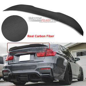 PSM Style Carbon Fiber Trunk Spoiler Wing For 2012-2018 BMW F30 3-Series Sedan Only