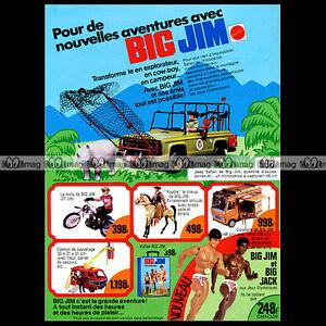 """Mattel BIG JIM Jeep Safari 1976 Pub / Publicité / Vintage Action Figure Ad #A222 - France - État : Occasion : Objet ayant été utilisé. Consulter la description du vendeur pour avoir plus de détails sur les éventuelles imperfections. Commentaires du vendeur : """"Trés bon état"""" - France"""