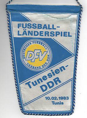 DemüTigen Original Wimpel 10.02.1983 Tunesien - Ddr // Dfv Edition !! RaritÄt