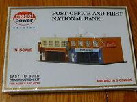 Model Power N 1539 Building Kit -- Post Office & Bank - 7-1/2 X 3-5/8 18.8 X