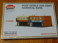 Model Power N 1539 Building Kit -- Post Office & Bank - 7-1/2 X 3-5/8 18.8 X