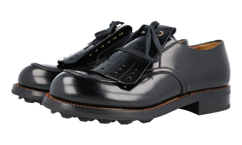 EXTRAVAGANTE PRADA BUSINESS shoes 2EG193 black NEU 6 40 40,5