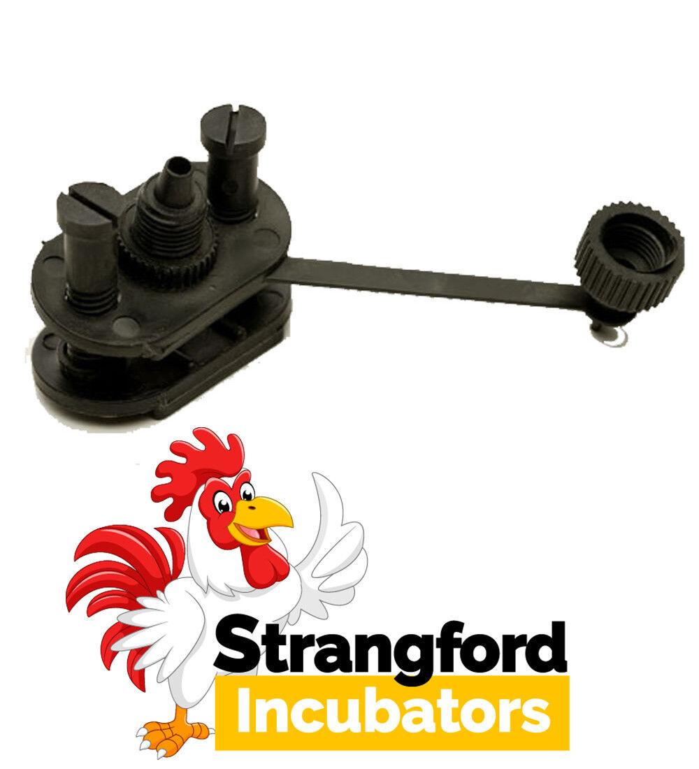 (x20) Saddle Connectors with Blanking Caps for Poultry Drinkers - (Bulk deal)