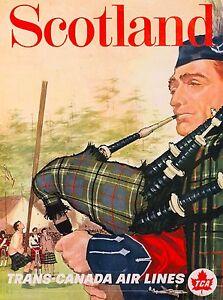Scotland-Scottish-Trans-Canada-Great-Britain-Travel-Advertisement-Art-Poster