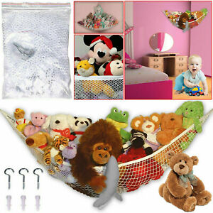 Large jouet doux en peluche hamac mesh bébé enfant chambre à coucher rangement nursery net