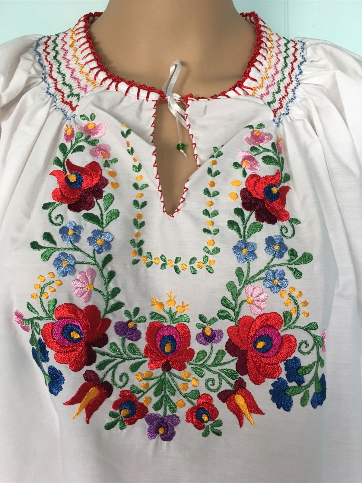 Traditional Hungarian Matyo Kalocsai Embroidered … - image 2