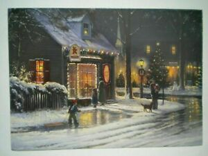 Old Fashioned Christmas Greeting Card Designer Envelope George Kovach Ebay