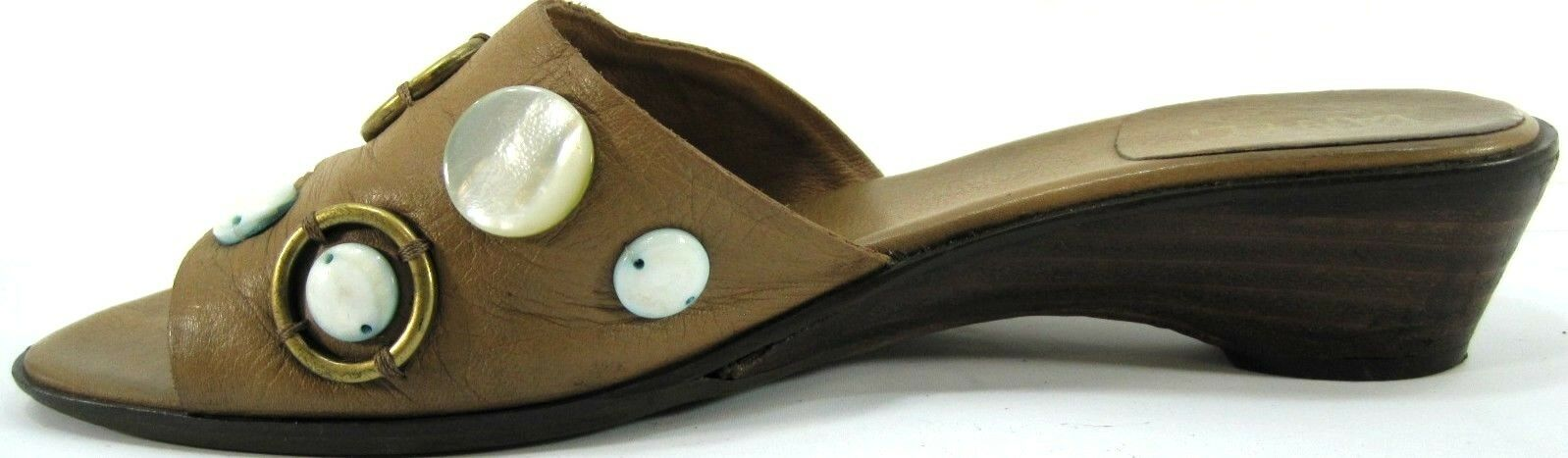 Van Eli Women Heels Size 8M Tanish Tanish Tanish Brown Sandals Heels 1.5 In High Made In  d31135