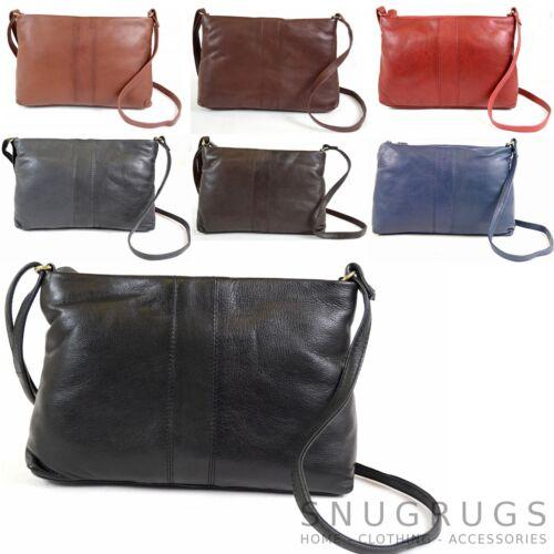 Cross Body Bag Ladies Womens Soft Premium Genuine Leather Shoulder