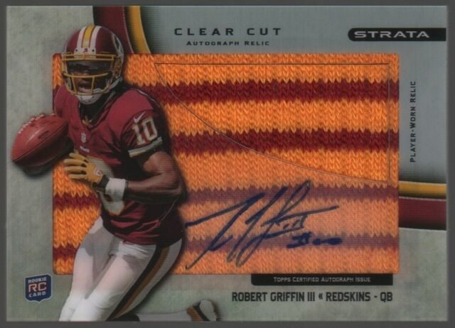 2012 Robert Griffin Topps Strata Clear Cut Auto Autograph Patch 1/1 Redskins RC