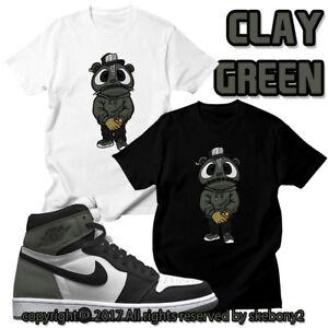"da016fad3a0e CUSTOM T SHIRT Air Jordan 1 Retro High OG ""Clay Green"