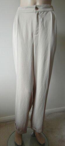 LK Bennett Ladies Light Beige Size 18 Lightweight Designer Trousers BNWT