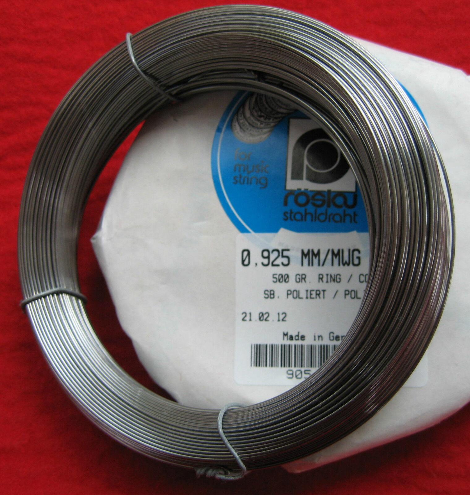 Genuine Piano Wire Spring Steel-'Roslau'-Full 1 2kg (500gram)Pianos Harpsichords