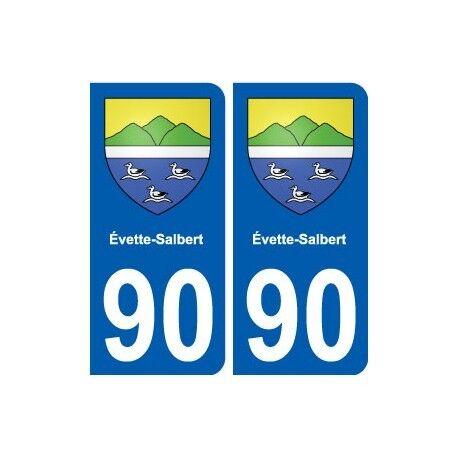 90 Évette-Salbert blason autocollant plaque stickers ville arrondis