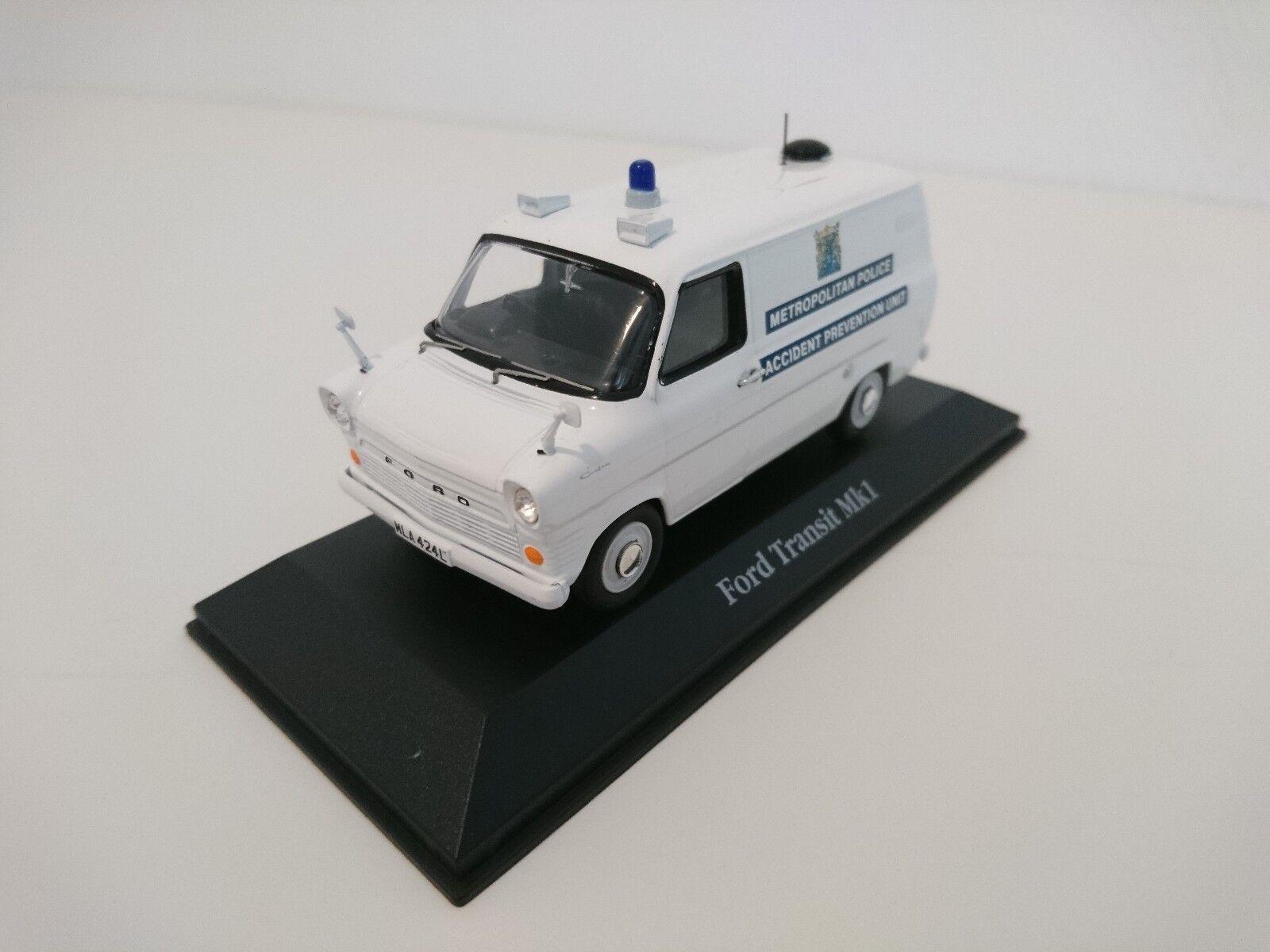 Ford Transit UK Voiture police anglaise 1 43 ATLAS DIECAST MODEL CAR U17