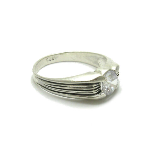 STERLING SILVER MEN RING SOLID 925 WITH CZ R000279 EMPRESS