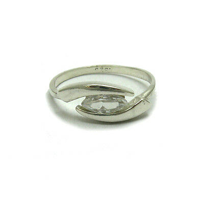STERLING SILVER RING SOLID 925 WITH 5 CUBIC ZIRCONIA EMPRESS R000155