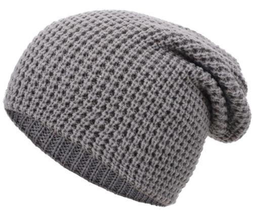 Women's Soft Ultra-Stretchy Knit Slouchy Beanie Ski Cap Men