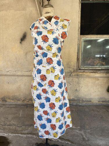 Antique 1930s Textured Cotton Wrap Dress Cotton Co