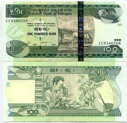 2015 P 52 NEW DATE UNC ETHIOPIA 100 BIRR 2007