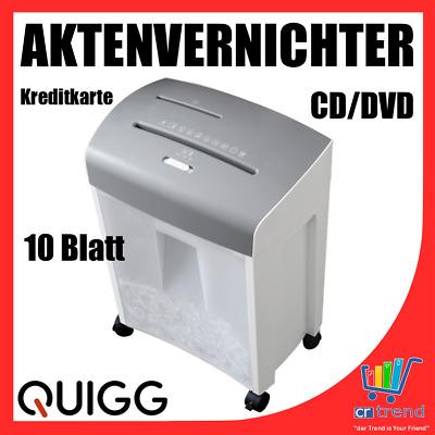 Professioneller Aktenvernichter Partikelschnitt Micro Cut 10 Blatt MC 510.2