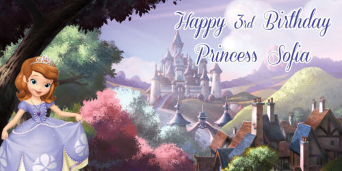 Princess Sofia the First Personalized Birthday Party Banner Photobooth Backdrop