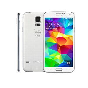 5 1 Inch Samsung Galaxy S5 G900v 16gb 16mp 3g 4g Lte Unlocked Smart Phone White Ebay