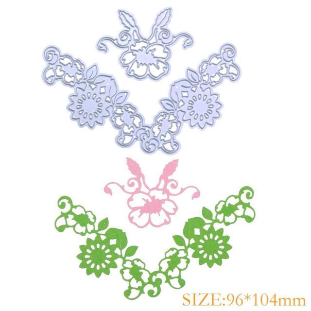 2pcs Flower Cutting Dies Stencils Scrapbook Embossing DIY Craft Album Gift R1BO