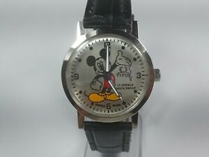 Vintage-titus-Mechanical-Hand-Winding-Movement-Micky-Mouse-Dial-Wrist-Watch-A306