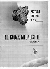 Kodak Medalist II Camera Instruction Manual, 1947