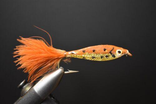 2 Flies BROWNIE Epoxy Minnow Fly Fishing Flies Size 2