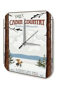 Wall-Clock-Globetrotter-Cabin-Country-Northwest-Minnesota-snow-trees-snow-canno