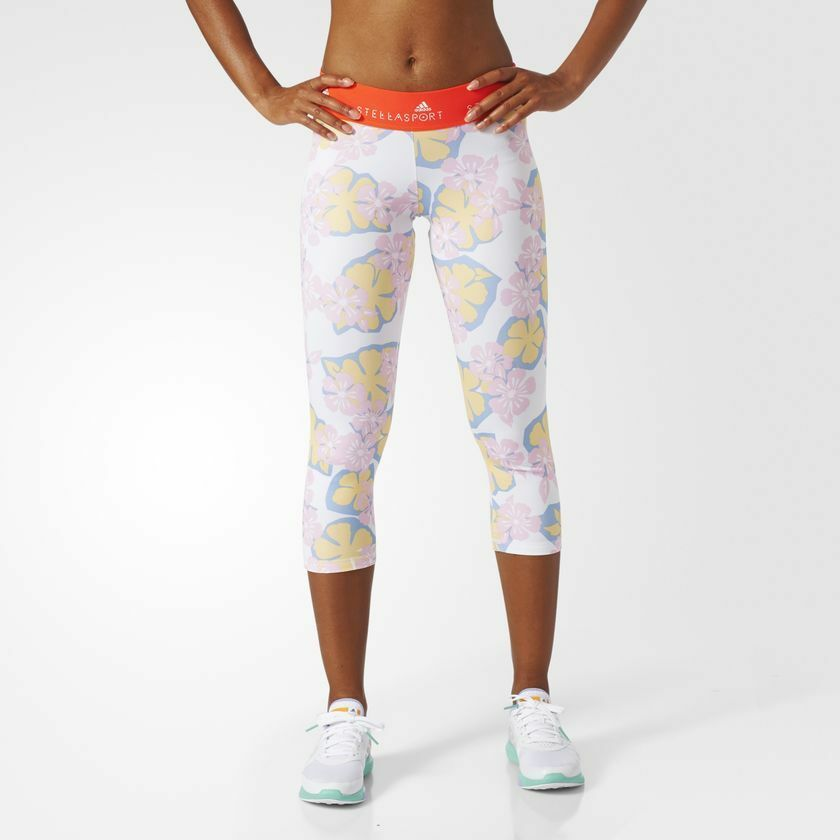 AZ7770 Női Adidas STELLASPORT 3/4 HAWAII Harisnya Futás Jogging UK M 12-14