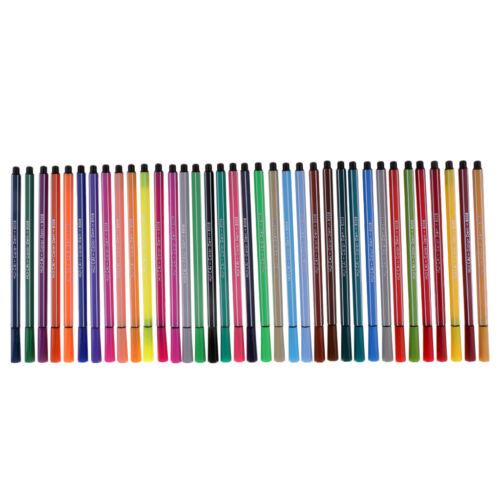 36 Farben Faser Filzstifte Zeichnung Farbmarkierungen Waschbare Tinte Kids