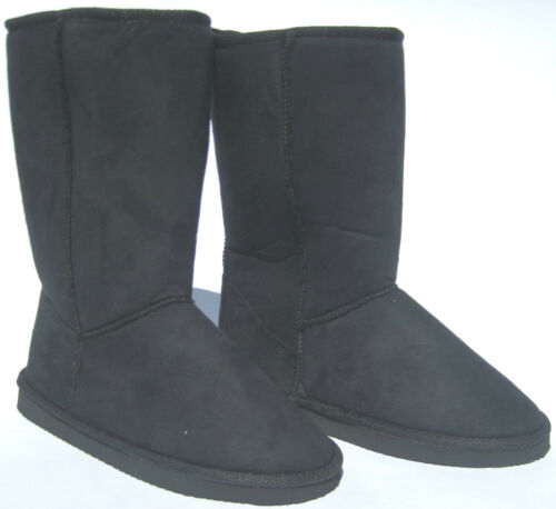~ JESCO ~ MID CALF FAUX SUEDE BOOTS ~ BLACK ~ VERY CUTE