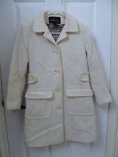 White Peacoat Moda International 2 Petite Winter Button Down Long Dress Pea Coat