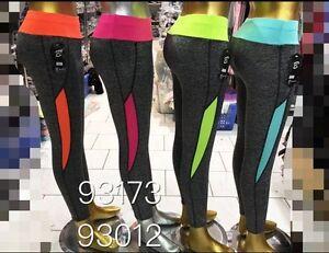 more photos 2e324 87431 Details zu Neu Damen Sportbekleidung Fitnessstudio Yoga Laufen Leggings  Weste Outfit S M L